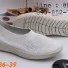 Fully รองเท้าผ้ายืด แบบสวม สีขาว