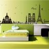 """สติ๊กเกอร์ตกแต่งผนังเมืองท่องเที่ยว """"Paris"""" ความสูง 70 cm ความยาว 190 cm"""