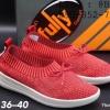 รองเท้าสวม Fully แบบยืด ประดับโบว์ สีแดง