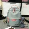 Shumiya กระเป๋าเป้ใบมินิ ทรง Palm Spring ฟรีตุ๊กตาหมีห้อย สีเทา
