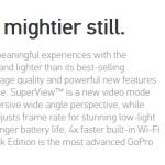 เปิดตัว GoPro Hero3+ Black Edition ----Black editon ที่ได้รับการอัพเดทให้มากขึ้น