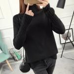 เสื้อไหมพรมคอเต่า สีดำ