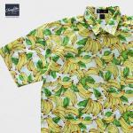 เสื้อเชิ๊ตแขนสั้น ลายกล้วยไม้ สีขาว 2XL , 3XL