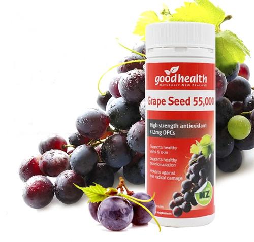 (แบ่งขาย 60 เม็ด) goodhealth สารสกัดเมล็ดองุ่น 55,000 mg. มี OPC 412 MG.จากนิวซีแลนด์ เพื่อผิวกระจ่างใสและสุขภาพดี