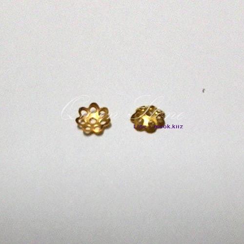 ตัวครอบสีทอง 8 มิล (1 คู่)