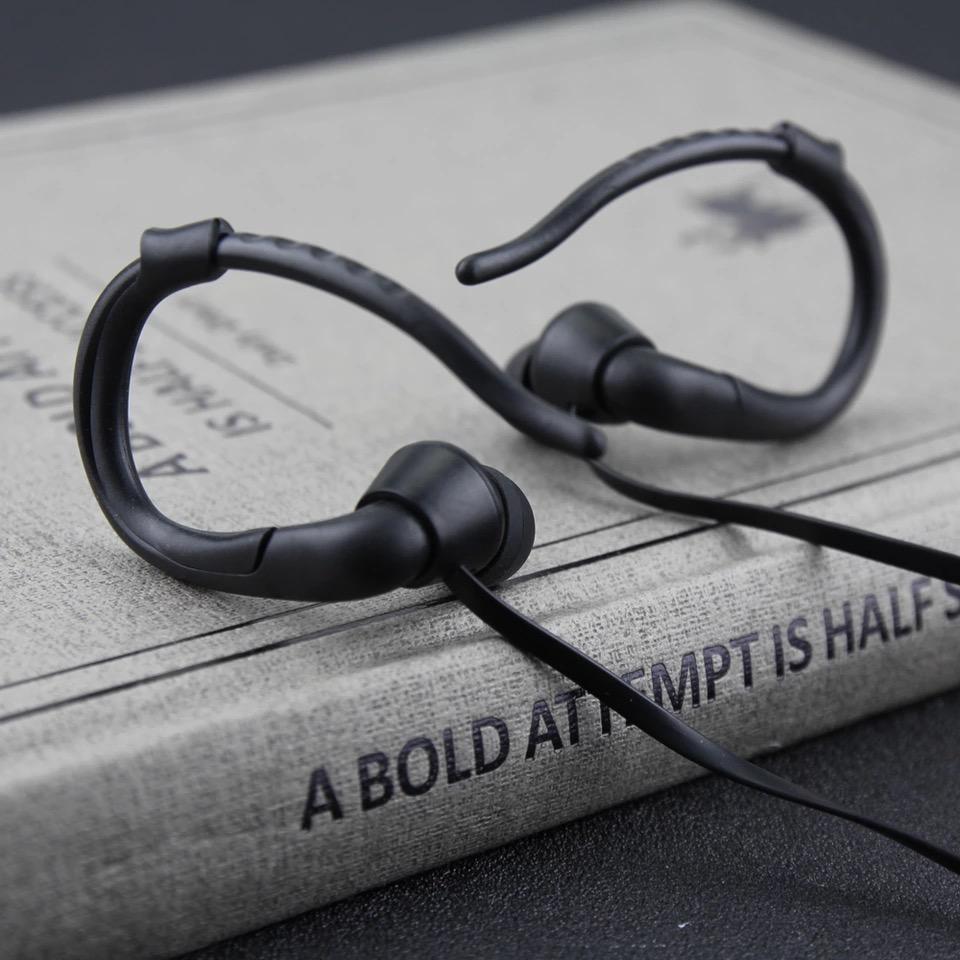 หูฟัง MP3 player สำหรับออกกำลังกาย สีดำ
