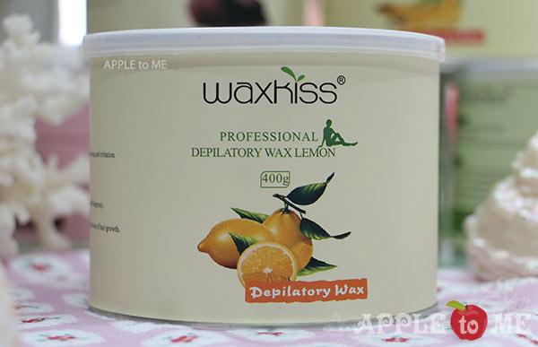 Strip wax กลิ่นส้ม (แว๊กซ์ร้อน แบบใช้ผ้าดึง) แบรนด์ WAXKISS กระป๋อง 400 กรัม