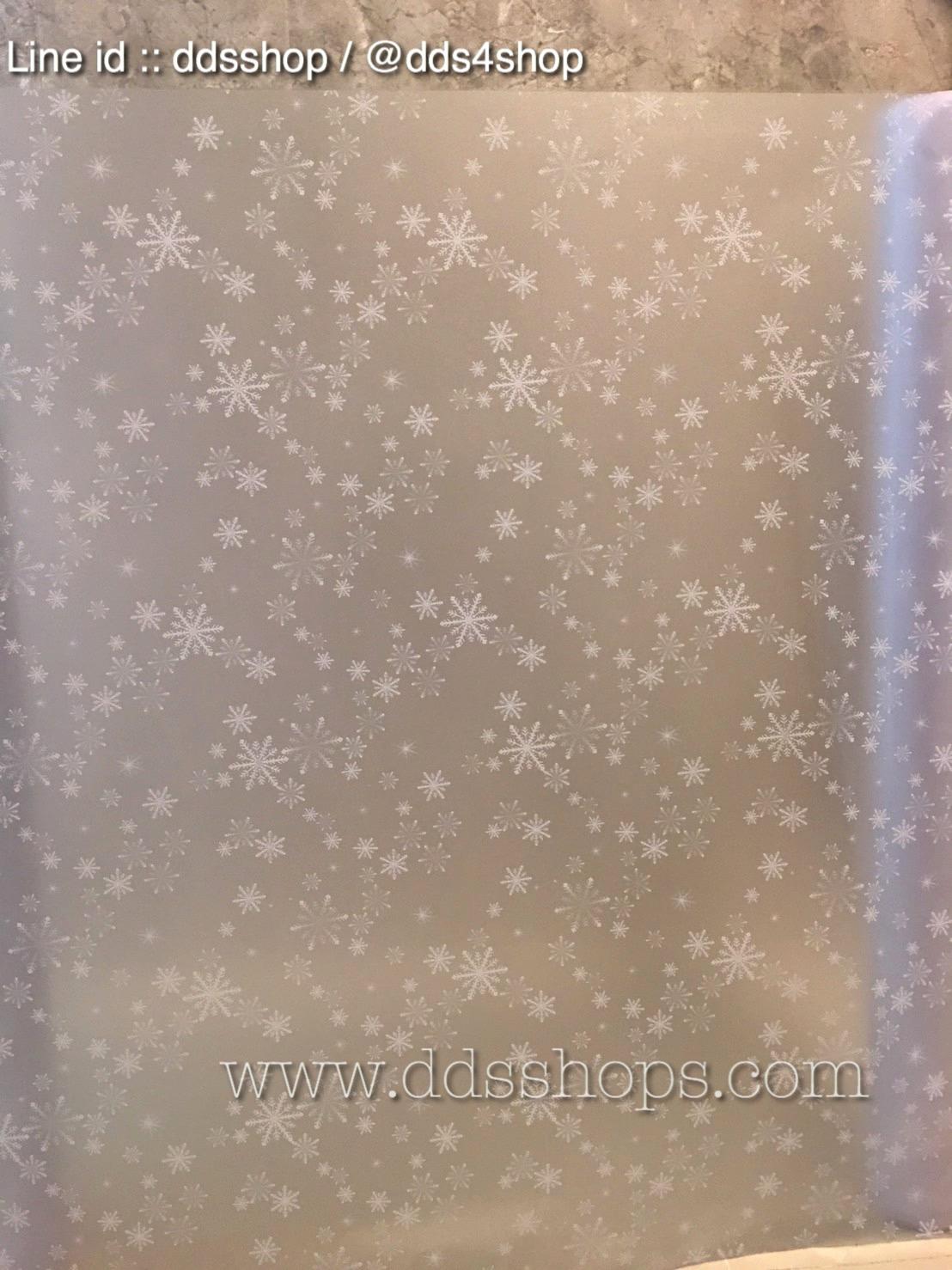 """สติ๊กเกอร์ติดกระจกแบบมีกาวในตัว """"SnowFlakes"""" ความสูง 90 cm ตัดแบ่งขายเมตรละ 179 บาท (ขั้นต่ำ 3m)"""