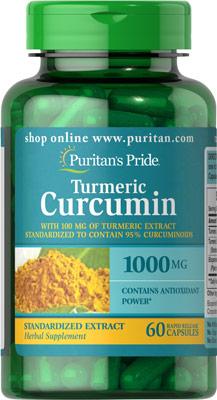 ขมิ้นและพริกไทยสกัด Turmeric Curcumin 1000 mg w/Bioperine 5 mg / 60 Capsule