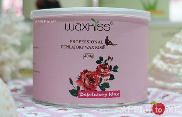 Strip wax กลิ่นกุหลาบ (แว๊กซ์ร้อน แบบใช้ผ้าดึง) แบรนด์ WAXKISS กระป๋อง 400 กรัม