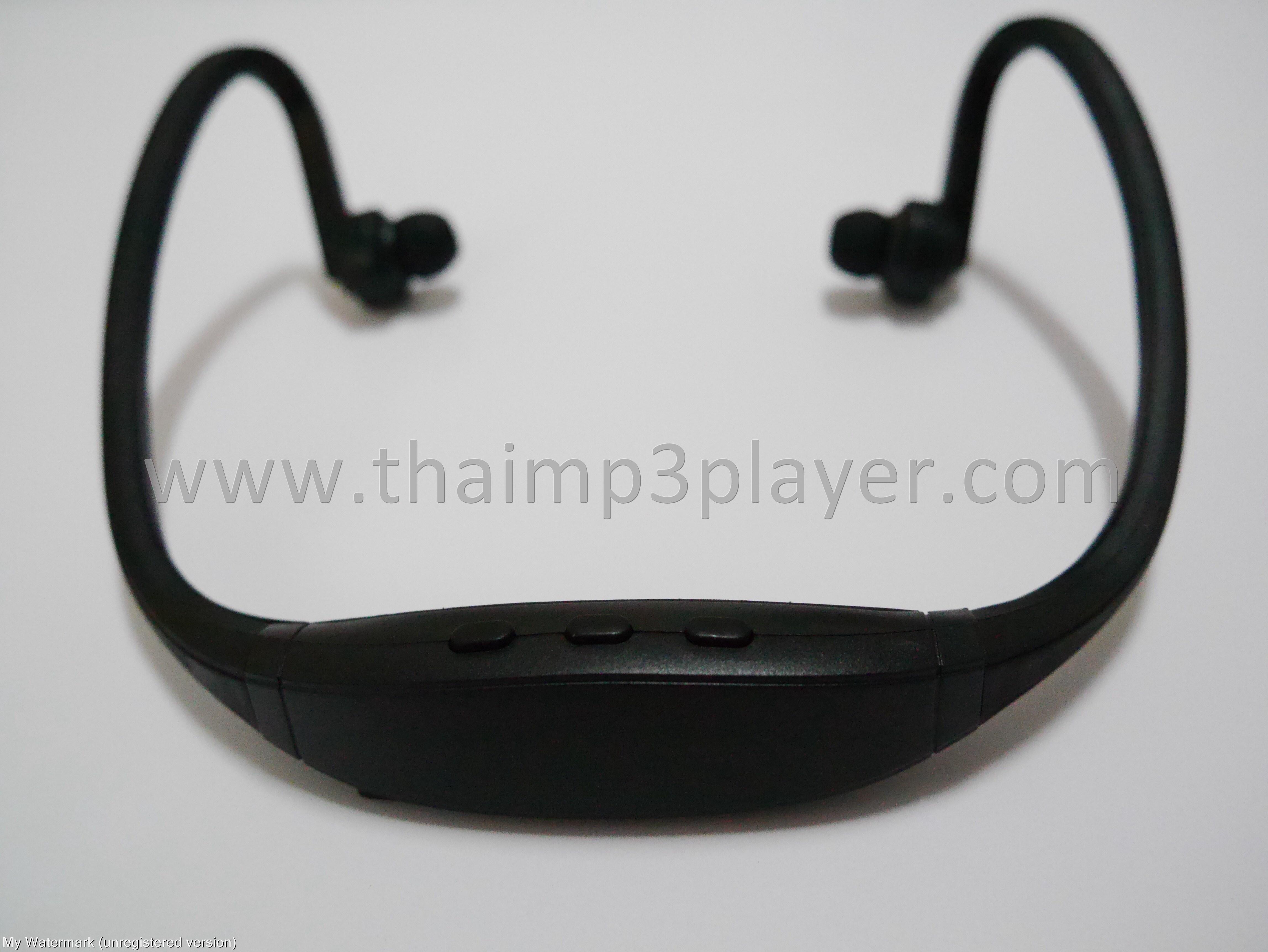 หูฟัง Bluetooth สำหรับออกกำลังกาย สีดำ