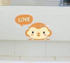 """สติ๊กเกอร์ติดปลั๊กไฟ """"Lovely Monkey"""" 8x14 cm"""