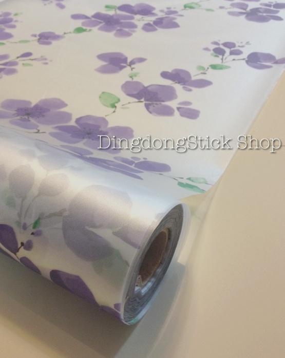 """สติ๊กเกอร์ฝ้าติดกระจกแบบมีกาว """"violet flora"""" หน้ากว้าง 90 cm ตัดแบ่งขายเมตรละ 179 บาท (ขั้นต่ำ 3m)"""