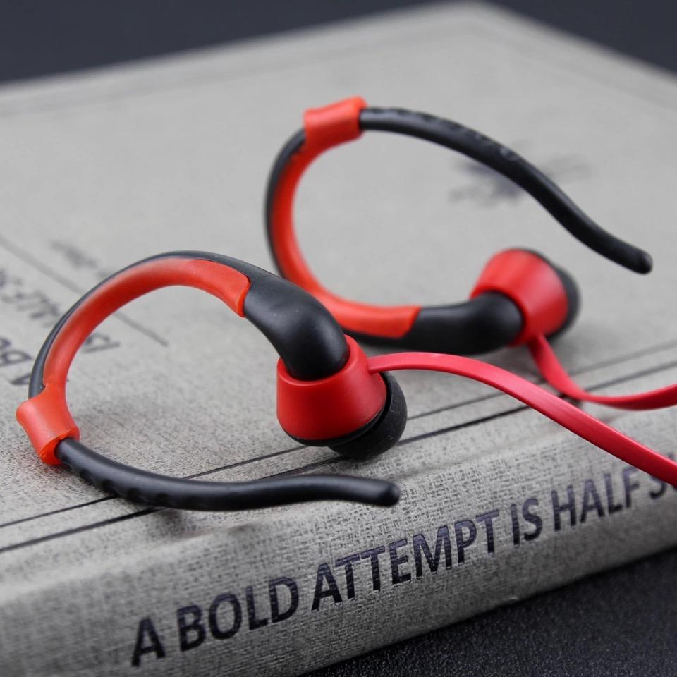 หูฟัง MP3 player สำหรับออกกำลังกาย สีแดง
