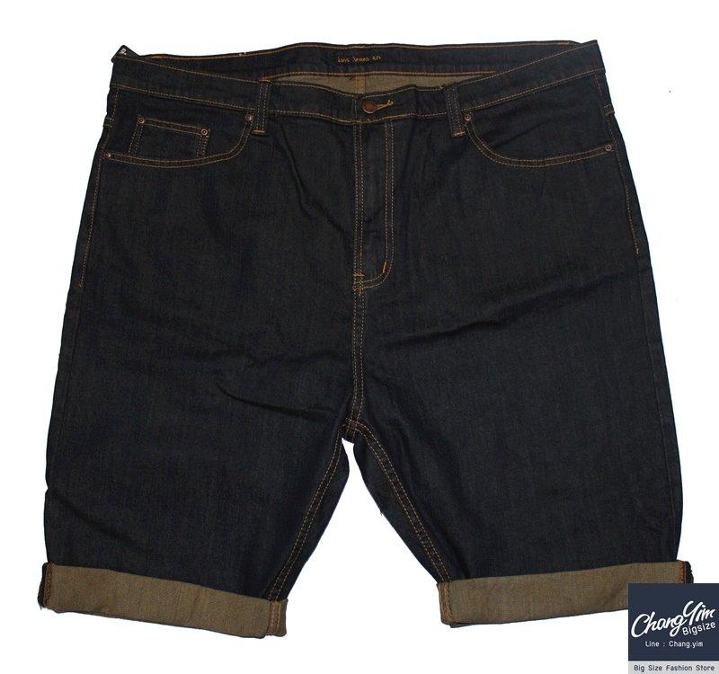 """กางเกงยีนส์ขาสั้น 3 ส่วน (สีสนิม จะพับขาหรือไม่พบก็ได้ ) Size 30""""-48"""""""