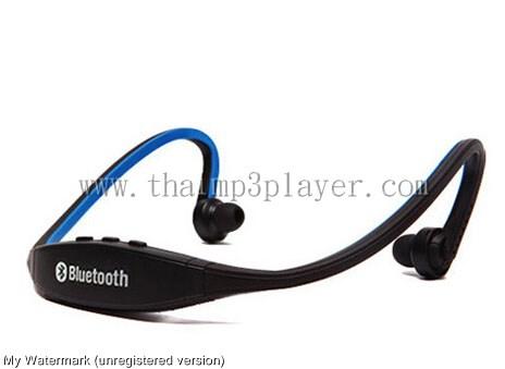 หูฟัง BlueTooth สำหรับการออกกำลังกาย สีน้ำเงิน
