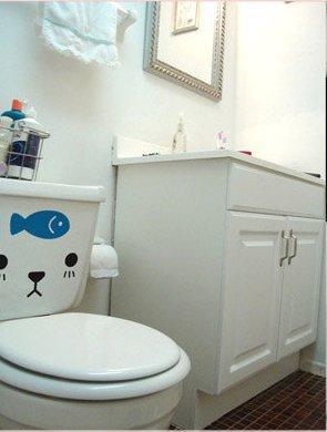 """Toilet Sticker """"Cuties Fish"""" 20x24 cm"""