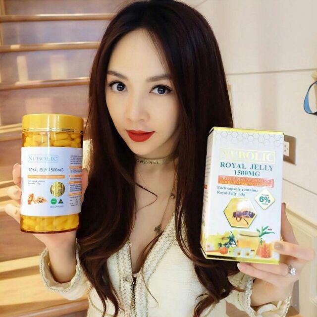 nubolic royaljelly 1500mg 6% นมผึ้งนูโบลิก ออสเตรเลีย มี อย.ไทย ทานบำรุงผิวพรรณและสุขภาพดี ขนาด 365 เม็ด