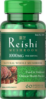 เห็ดหลินจือบำรุงร่างกาย Nature Smart Reishi Mushroom 1000 mg ขนาด 60 Capsules