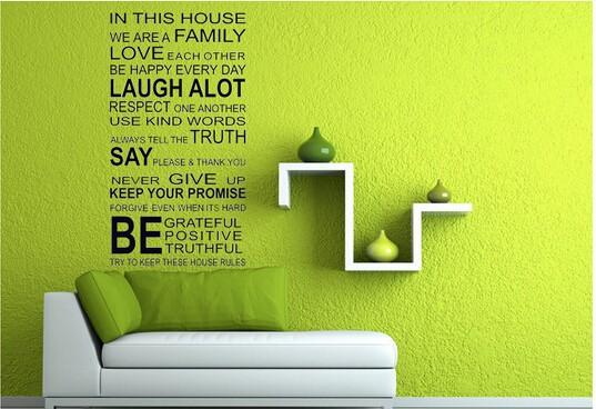 """สติ๊กเกอร์ตกแต่งคำพูด ความหมายดี """"Quote Wall Sticker"""" ความกว้าง 60 cm สูง 115 cm"""