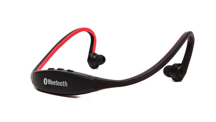 หูฟัง BlueTooth สำหรับการออกกำลังกาย สีแดง