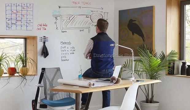 สติ๊กเกอร์กระดานไวท์บอร์ด Whiteboard Sticker ขนาด 60 cm x 2 m
