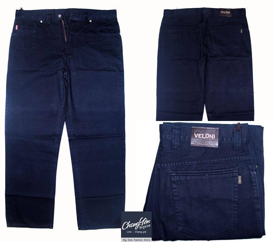 """40-60""""กางเกงขายาว ผู้ชายอ้วน #2745 ทรงกระบอก ผ้ายีนส์ สียีนส์"""