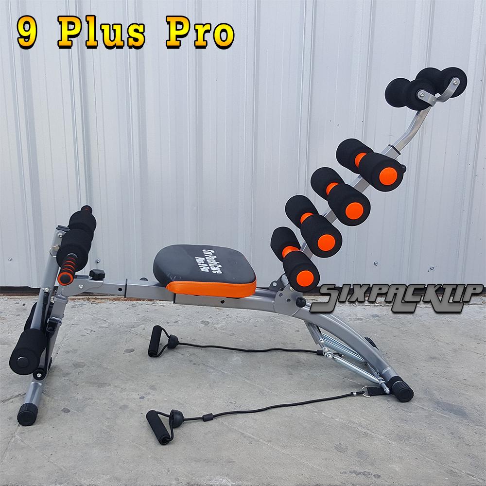 SIX PACK CARE รุ่น 9PLUS Pro (9พลัส โปร) เครื่องบริหารหน้าท้อง ซิทอัพ 6สปริง + 6ระดับ