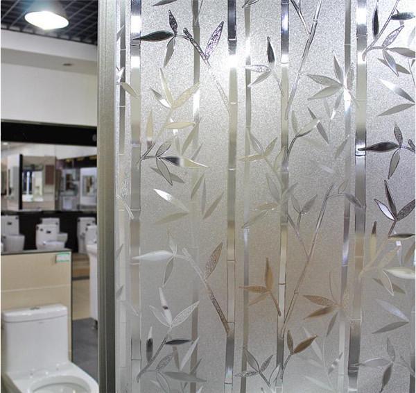 "PVC สูญญากาศติดกระจกป้องกัน UV ""Bamboo II"" ลายไผ่ กันยูวี หน้ากว้าง 90 cm ตัดแบ่งขาย เมตรละ320 บาท"