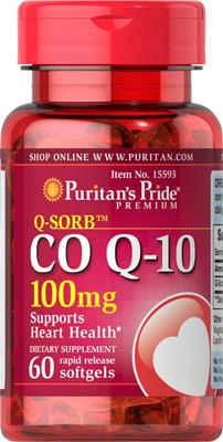 ลดริ้วรอย Puritan's Pride Co Q-10 (โคเอ็นไซม์ คิวเท็น) ขนาด 100 mg จำนวน 60 เม็ด