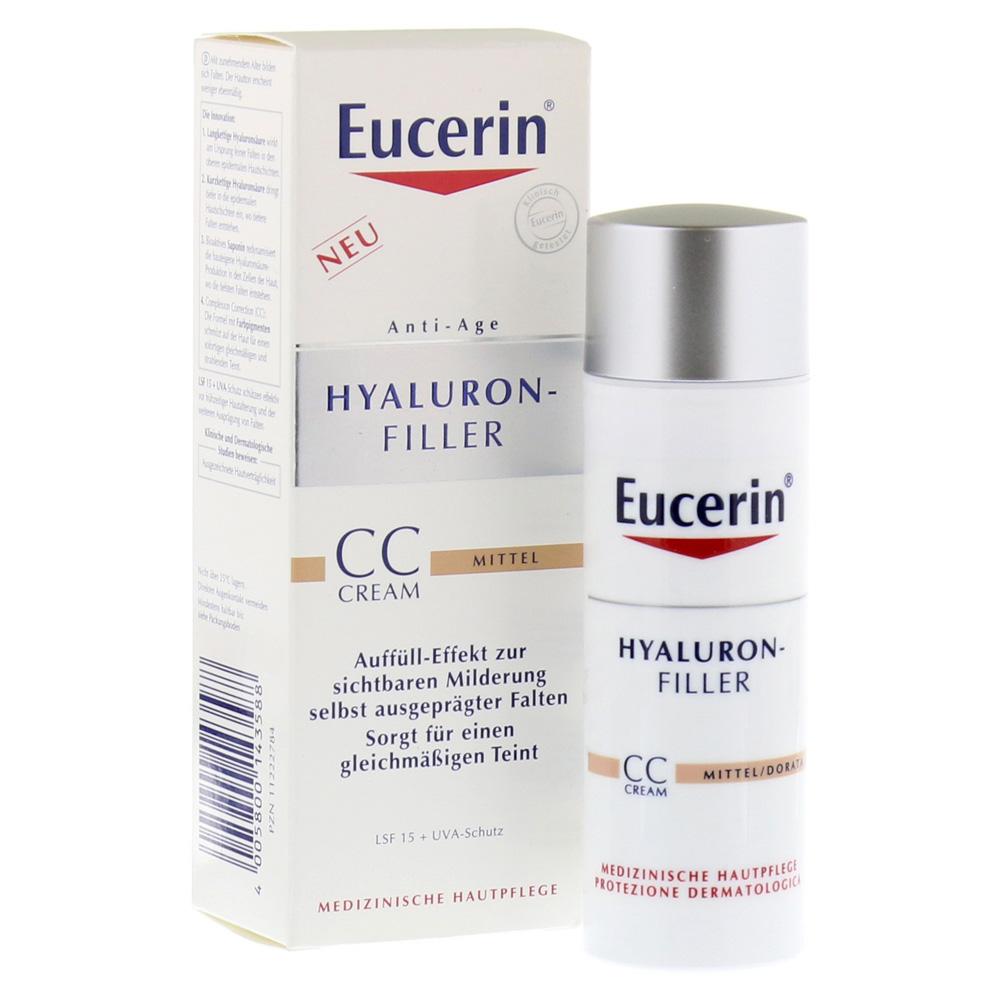 HYALURON-FILLER CC-Cream (medium) , 50 ml ครีมบำรุงผิวหน้าผสมรองพื้น และสารป้องกันแสงแดด