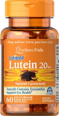 ช่วยการมองเห็น Puritan's Pride Lutein 20 mg with Zeaxanthin / 60 softgels