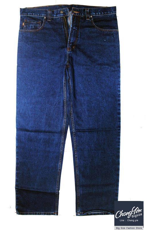 """40-60""""กางเกงขายาว ผู้ชายอ้วน #1767 ทรงกระบอก ผ้ายีนส์"""