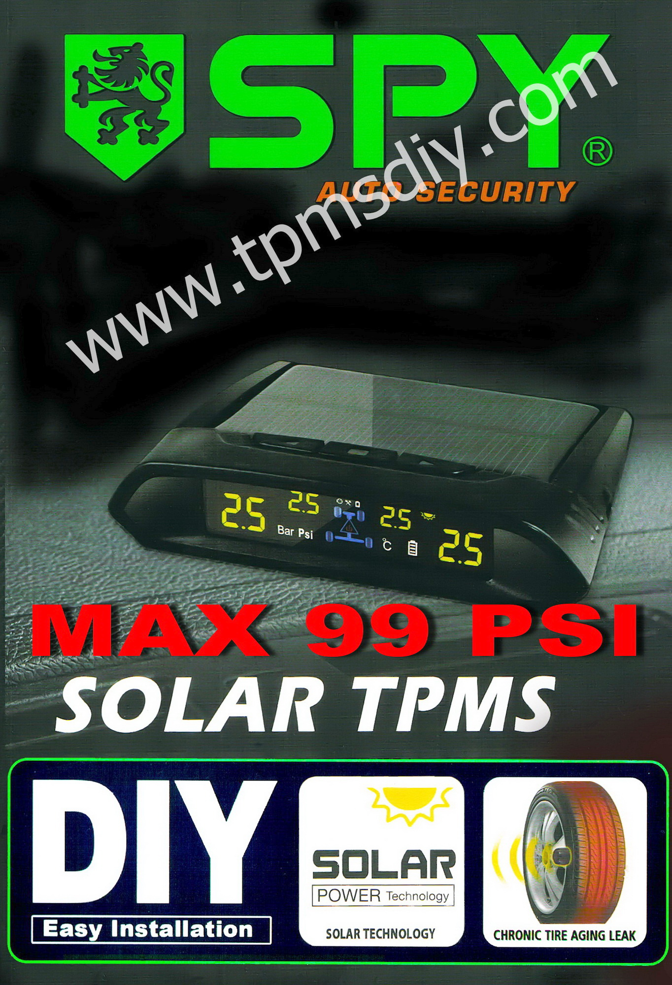 TPMSDIY SPY X-7 Max 99 PSI