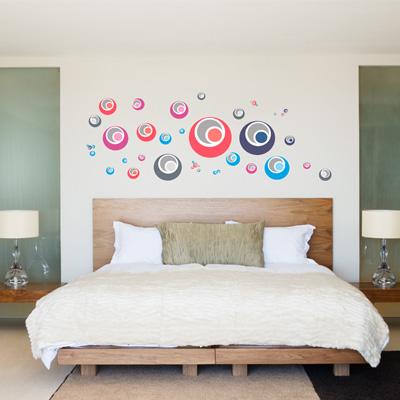 """ลดล้างสต็อก สินค้าลดราคา50% """"Colorful Graphic Circle"""" ความสูง 92 cm กว้าง 190 cm"""
