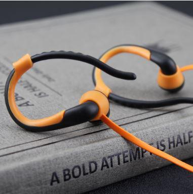 หูฟัง MP3 player สำหรับออกกำลังกาย สีส้ม