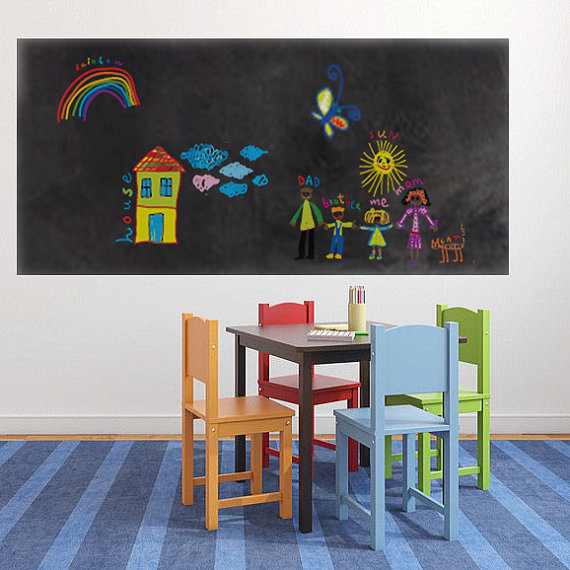 สติ๊กเกอร์กระดานดำ Chalkboard Sticker ขนาด 60 cm x 200 cm