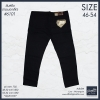 """46-54"""" #6101 ยีนส์ทรงกระบอกเล็ก ผ้ายืด สีดำ superblack"""