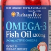 บำรุงสมองและหัวใจ Puritan's Pride Premium - Omega-3 Fish Oil 1200 mg - 100 Softgels
