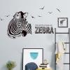 """สติ๊กเกอร์ติดผนังตกแต่งบ้าน """"ม้าลาย Zebra III"""" ความสูง 77 cm กว้าง 156 cm"""