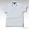 Basic Polo สีขาว M-2XL ผ้าจุติ