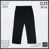 """40-54"""" กางเกงผ้า ขายาว สีดำ BIGSIZE ทรงกระบอกใหญ่ #4085"""