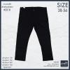 """38-50"""" ยีนส์สีดำล้วน Superblack ขากระบอกเล็ก #2018(ผ้ายืด)"""