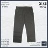 """40-54"""" กางเกงผ้า ขายาว สีน้ำตาล BIGSIZE ทรงกระบอกใหญ่ #4085"""