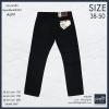 """38-50"""" กางเกงยีนส์ขายาว #499 (ไม่ยืด) ทรงกระบอกสีดำ"""