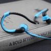 หูฟัง MP3 player สำหรับออกกำลังกาย สีฟ้า