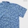 เสื้อเชิ๊ตแขนสั้น ลายวินเทจ สีฟ้า
