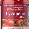 อาหารเสริมผิวขาวอมชมพู Puritan's Pride Lycopene 40 mg. ขนาด 60 Softgels