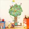 """สติ๊กเกอร์ติดผนังตกแต่งบ้าน """"ต้นไม้ Big Cute Green Tree"""" ความกว้าง 90 cm ความสูง 120 cm"""