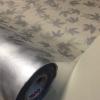 """สติ๊กเกอร์ติดกระจกแบบมีกาวในตัว """"Metalic Grey Maple Leaf"""" หน้ากว้าง 90 cm ตัดแบ่งขายเมตรละ 189 บาท (ขั้นต่ำ 3m)"""